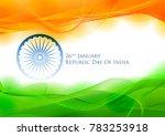 illustration of tricolor banner ... | Shutterstock .eps vector #783253918
