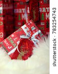 christmas gifts boxes.... | Shutterstock . vector #783254743