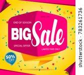 sale banner template design... | Shutterstock .eps vector #783261736
