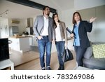 couple with real estate agent... | Shutterstock . vector #783269086