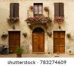 facade of old house in pienza... | Shutterstock . vector #783274609