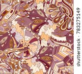tracery seamless pattern.... | Shutterstock .eps vector #783275149