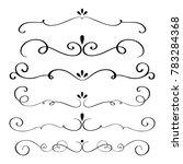 art calligraphy flourish of... | Shutterstock . vector #783284368