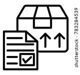 customs clearance documentation ... | Shutterstock .eps vector #783284539