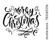 merry christmas  calligraphic... | Shutterstock . vector #783285256