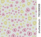 pattern with hearts valentines... | Shutterstock .eps vector #783288088
