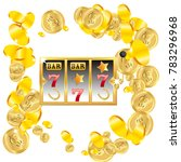 casino. golden slot machine... | Shutterstock .eps vector #783296968