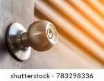 stainless door knob and keyhole ...   Shutterstock . vector #783298336