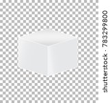 cube transparent icon on white...   Shutterstock .eps vector #783299800