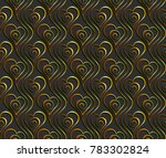valentine's day. pattern with a ... | Shutterstock .eps vector #783302824