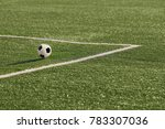 a soccer ball in near the... | Shutterstock . vector #783307036