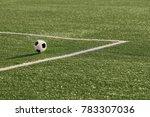 a soccer ball in near the... | Shutterstock . vector #783307036