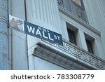 wall street road sign | Shutterstock . vector #783308779