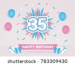 35 years colorful happy... | Shutterstock .eps vector #783309430