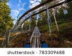 sledging on tobotronc in... | Shutterstock . vector #783309688