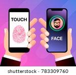facial and fingerprint... | Shutterstock .eps vector #783309760