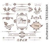 vintage corners set vector | Shutterstock .eps vector #783318664