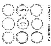 vector label hand drawing... | Shutterstock .eps vector #783331354