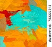 oil painting on canvas handmade....   Shutterstock . vector #783331948