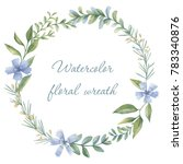 floral wreath. botanical... | Shutterstock . vector #783340876
