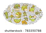 summer and beach hand draw icon ... | Shutterstock .eps vector #783350788