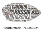 100 biggest countries word... | Shutterstock .eps vector #783353824