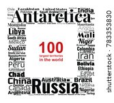 100 biggest countries word... | Shutterstock .eps vector #783353830