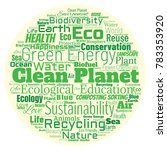 green clean planet concept.... | Shutterstock .eps vector #783353920