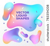 liquid vector colorful shapes.... | Shutterstock .eps vector #783354208