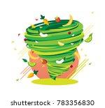 crazy green healthy fruit swirl ... | Shutterstock .eps vector #783356830