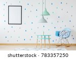 blue and turquoise child space... | Shutterstock . vector #783357250