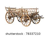 Old Decorative Cart  Isolated...