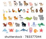 cute animals collection  farm... | Shutterstock . vector #783377044