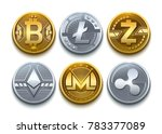 digital vector cryptocurrency... | Shutterstock .eps vector #783377089