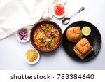misal pav or misalpav  misal... | Shutterstock . vector #783384640