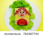 creative sandwich snack with... | Shutterstock . vector #783387754