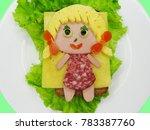 creative sandwich snack with... | Shutterstock . vector #783387760