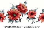 seamless floral design | Shutterstock . vector #783389170