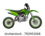 off road  green  motorcycle | Shutterstock .eps vector #783401068