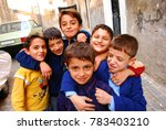 children pose for a photo on... | Shutterstock . vector #783403210