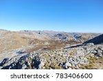 beautiful mountain landscape on ... | Shutterstock . vector #783406600