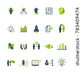 set of business icons for... | Shutterstock .eps vector #783409474
