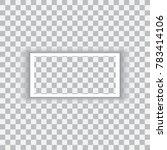 realistic black frame isolated... | Shutterstock .eps vector #783414106