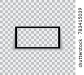 realistic black frame isolated... | Shutterstock .eps vector #783415039