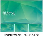 fractal abstract background.... | Shutterstock .eps vector #783416170