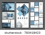website template design with...   Shutterstock .eps vector #783418423