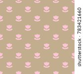 floral geometric pattern with... | Shutterstock .eps vector #783421660