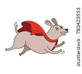 vector illustration of super dog | Shutterstock .eps vector #783423553
