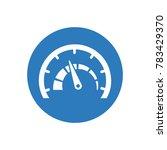 vector speedometer icon | Shutterstock .eps vector #783429370