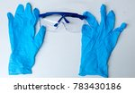 lab gloves and safety goggles... | Shutterstock . vector #783430186
